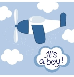 Flying in the sky airplane and the words it s vector