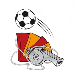 football and whistle vector image