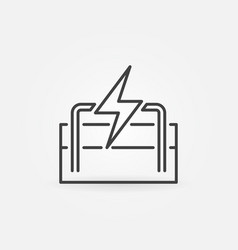 Geothermal energy linear icon vector
