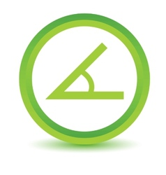 Green Sign of the angle icon vector