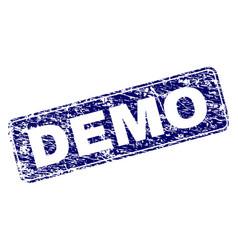 Grunge demo framed rounded rectangle stamp vector