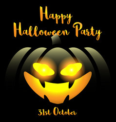 halloween background with happy halloween party vector image