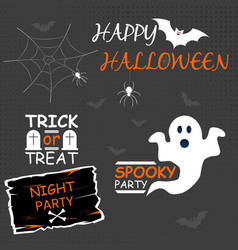 halloween party - image vector image