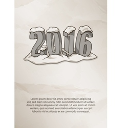 Happy new year 2016 card on grunge background vector