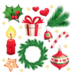 happy new year and merry christmas design s vector image
