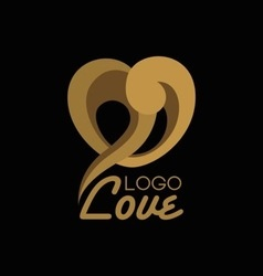 Heart shape logo design template vector