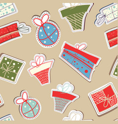 holiday abstract seamless pattern vector image