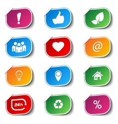 internet icons - labels vector image