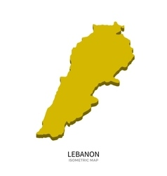 Isometric map of Lebanon detailed vector