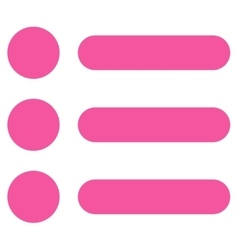 Items flat pink color icon vector