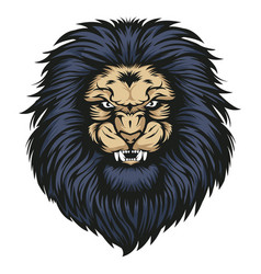 Lion head angry animal wildlife logo vector