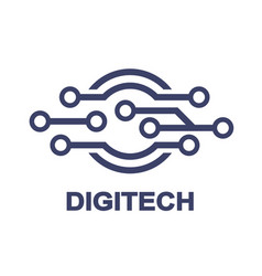 logo - technology biotechnology tech icon and vector image