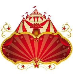 Magic circus big top vector