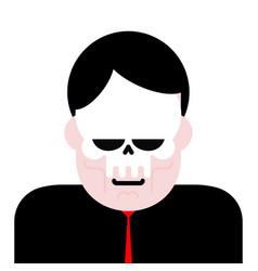 man in mask skull masquerade angry boss vector image