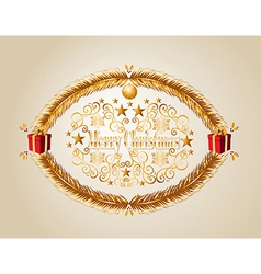 Merry Christmas mistletoe background EPS10 file vector image
