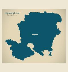 Modern map - hampshire county uk vector