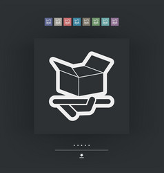Packaging icon vector