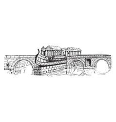 Pons cestius the passage-way in a roman bridge vector