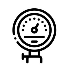 power counter metallurgical icon vector image