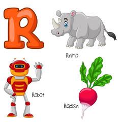 r alphabet vector image