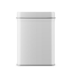 rectangular glossy tin can template vector image vector image