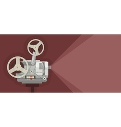 Retro movie projector for vector image vector image