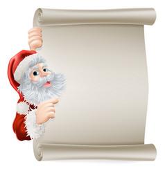 Santa christmas poster vector