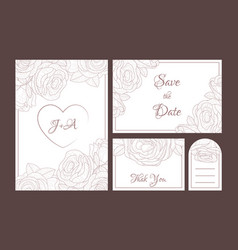 save date elegant wedding invitation templates vector image