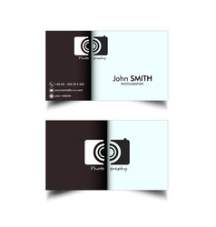 Simple photographer cards vector