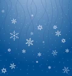 Snowflake scene vector