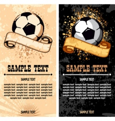soccer ball on grunge background vector image