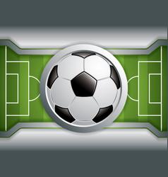 soccer field brochure vector image