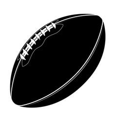 sport equipment rugball american football vector image