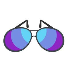 sunglasses icon flat style vector image