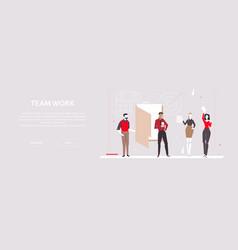Team work - modern flat design style colorful vector