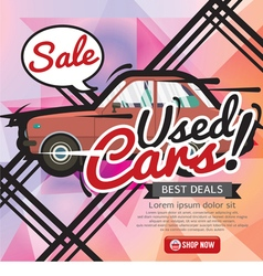 Used Cars Sale 6250x2500 pixel Banner vector