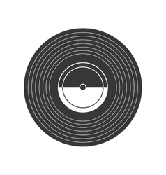 Vinyl icon Retro Technology design vector