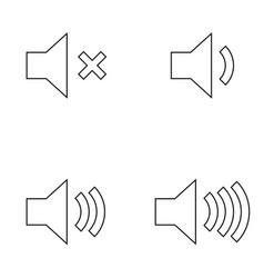 Volume black color icon vector