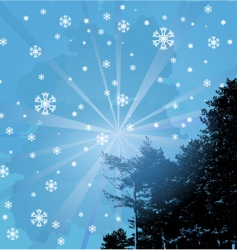 welcome snowflakes vector image