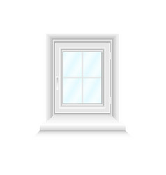 white simple window with blue gradient glasses vector image