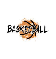 word basketball on the background basketball ball vector image