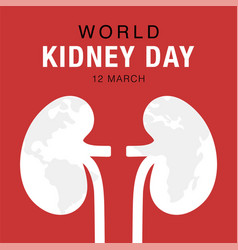 world kidney day concept healthcare banner vector image