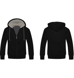 black hooded sweater vector image vector image
