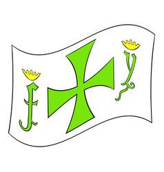 columbus day symbol icon icon cartoon vector image vector image