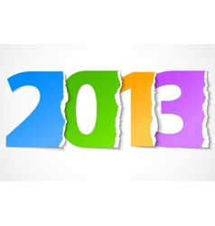 New year 2013 torn paper vector image vector image