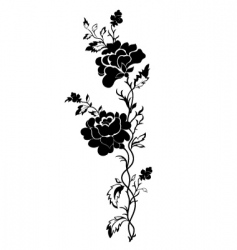 vertical floral pattern rose tattoo vector image vector image