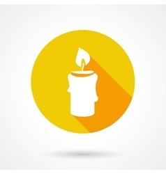 Flat candle icon vector image vector image