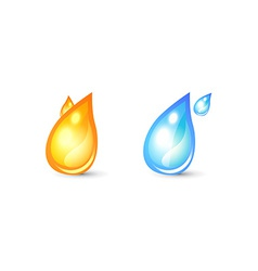 Set of icon for logo with drop shape vector image
