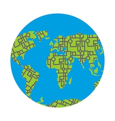 Urbanization earth Roads have filled in all vector image vector image