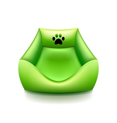Cat bed isolated on white vector image